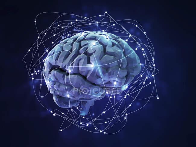 Нейромережа, комп'ютерна ілюстрація — стокове фото