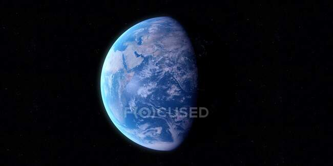 Earth from space, computer illustration — Stock Photo