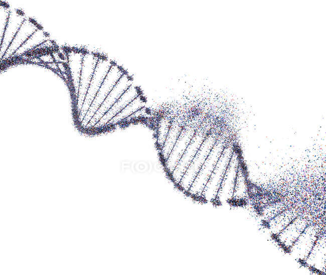 DNA damage, conceptual illustration. — Stock Photo