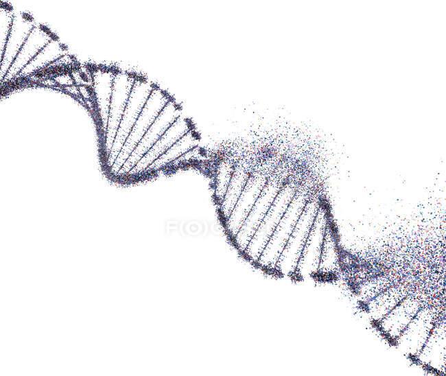 Dommages à l'ADN, illustration conceptuelle . — Photo de stock