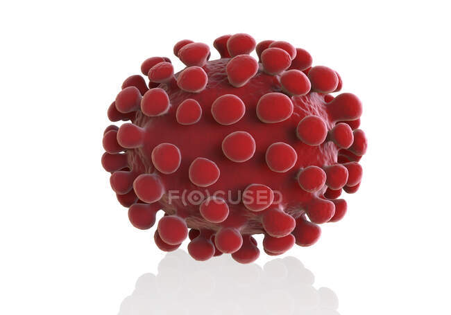 Particule de coronavirus, illustration informatique — Photo de stock