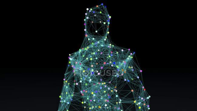 Intelligence artificielle, illustration conceptuelle . — Photo de stock