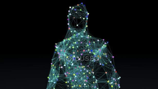 Artificial intelligence, conceptual illustration. — Stock Photo