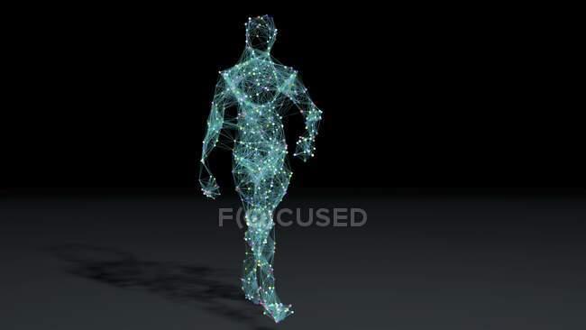Штучний інтелект, ілюстрація. — стокове фото