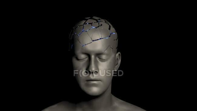 Neurônios cerebrais, ilustração conceitual — Fotografia de Stock