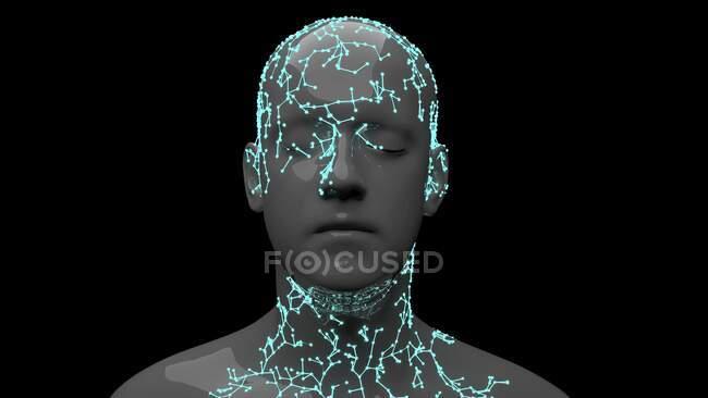 Facial recognition, conceptual illustration. — Stock Photo