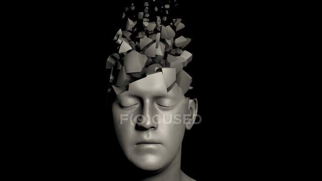 Démence, illustration conceptuelle par ordinateur — Photo de stock