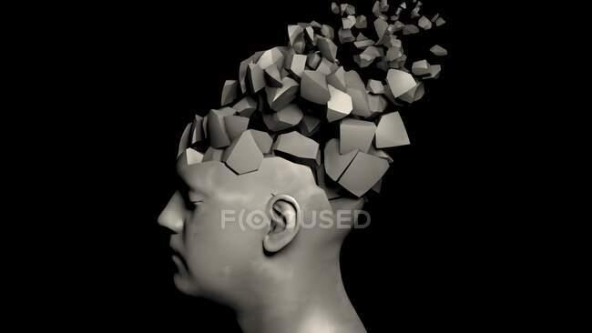 Demenz, konzeptionelle Computerillustration — Stockfoto