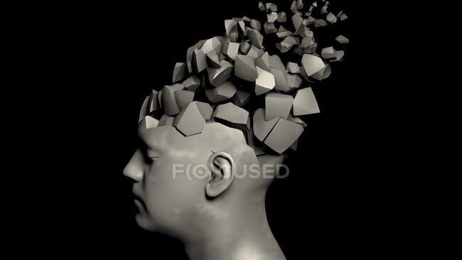 Dementia, conceptual computer illustration — Stock Photo