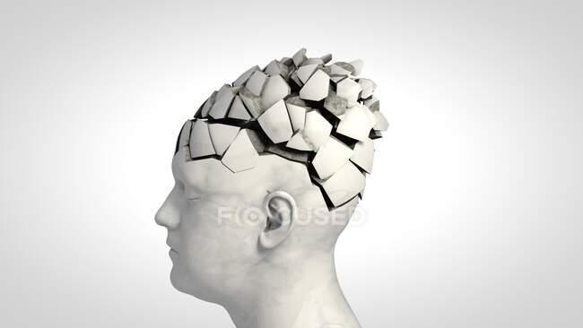 Demencia, ilustración conceptual por ordenador - foto de stock