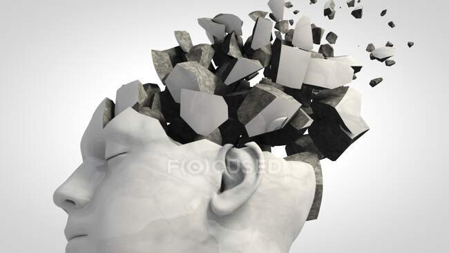 Demenza, illustrazione concettuale al computer — Foto stock