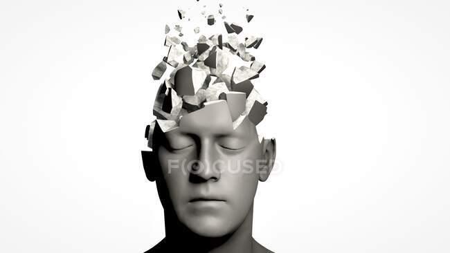 Demência, ilustração conceitual do computador — Fotografia de Stock