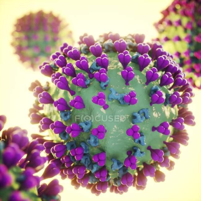 Particella di coronavirus, illustrazione per computer — Foto stock