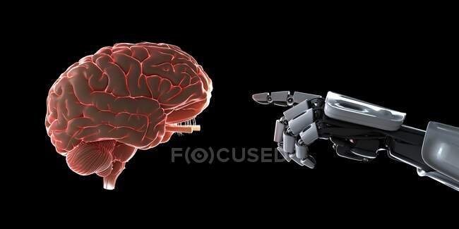 Artificial intelligence, conceptual computer illustration. — Stock Photo