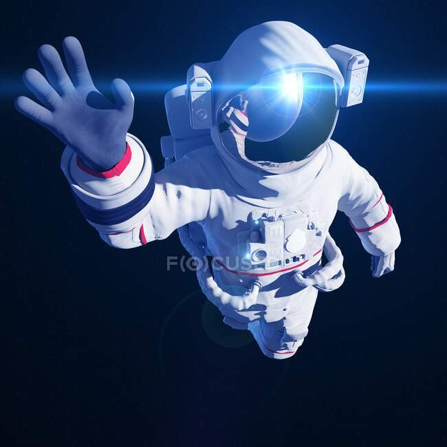 Astronaut in space, computer illustration — Stock Photo