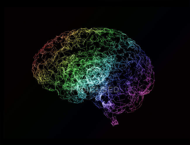 Neural network, computer illustration — Stock Photo