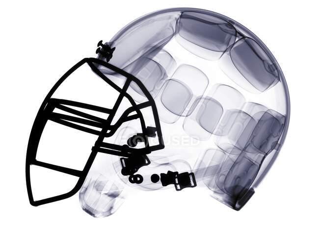 Casco da football americano, raggi X. — Foto stock