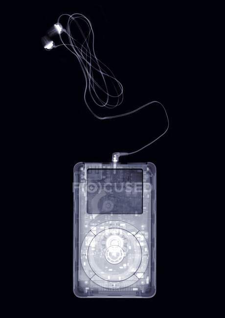Reproductor de música portátil, rayos X. - foto de stock