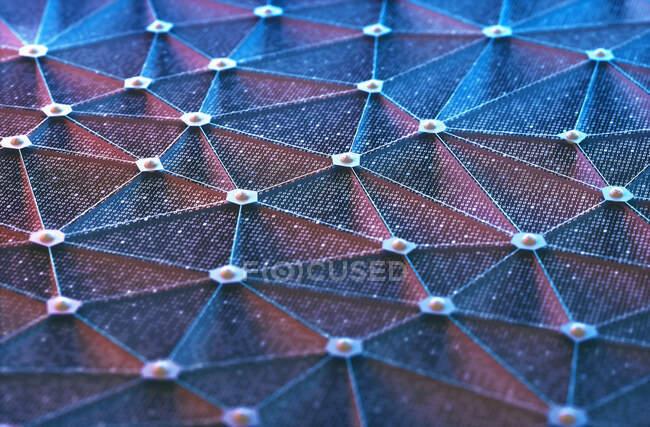 Concepto de red, ilustración por ordenador - foto de stock