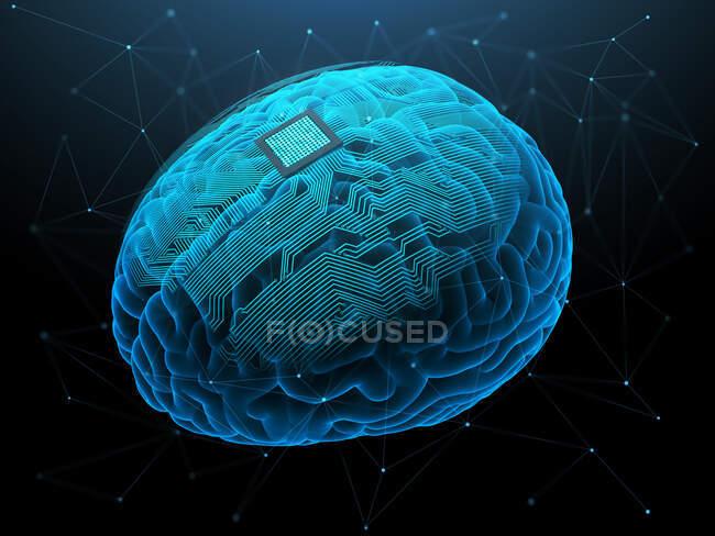 Штучний інтелект, ілюстрація — стокове фото