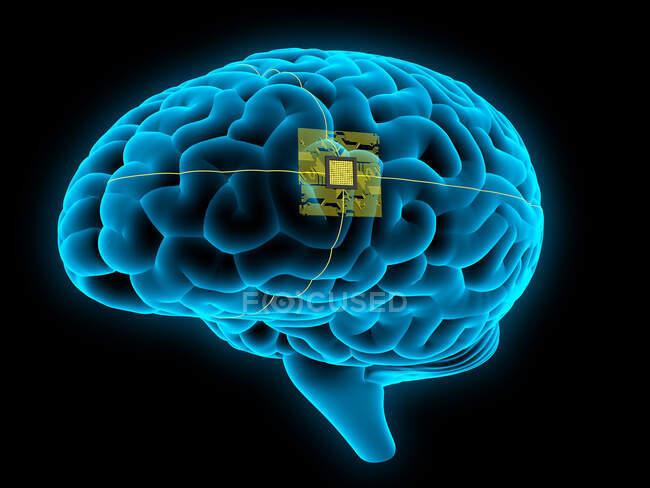 Inteligência artificial, ilustração conceitual — Fotografia de Stock