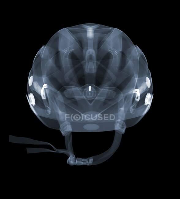 Велосипедный шлем, рентген, рентгенологическое сканирование — стоковое фото