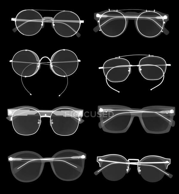 Sunglasses, X-ray, radiology scan — Stock Photo