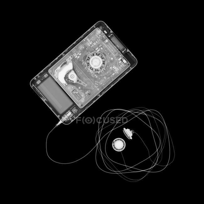 Reproductor de MP3, rayos X. - foto de stock
