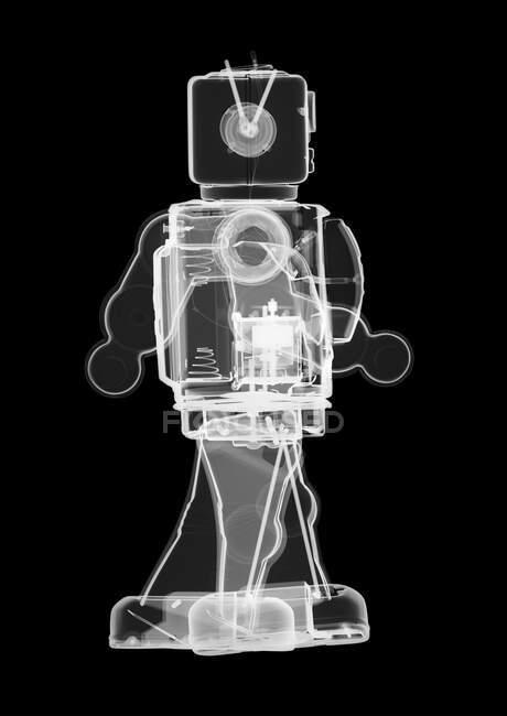 Robot de juguete, rayos X, escáner radiológico - foto de stock