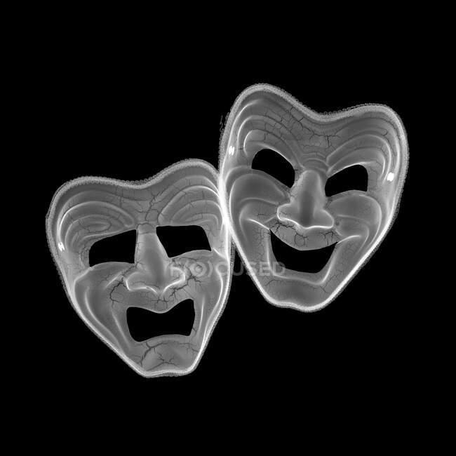 Máscaras de teatro, raios-X. — Fotografia de Stock