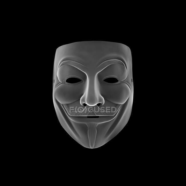 Máscara de vendetta, raio-X. — Fotografia de Stock