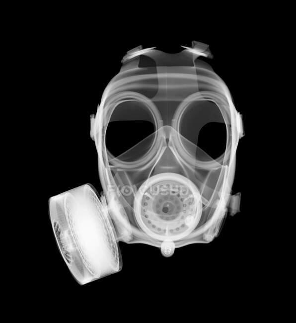 Máscara de gás, raio-X, radiologia scan — Fotografia de Stock