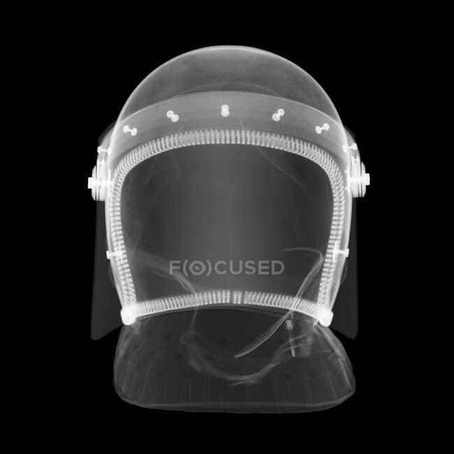 Полицейский шлем, рентген. — стоковое фото