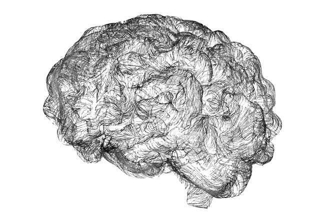 Brain neural network, computer illustration. — Stock Photo