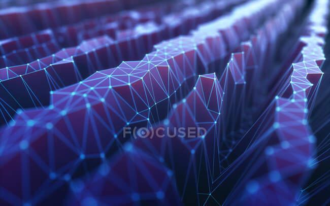 Red digital, ilustración conceptual - foto de stock