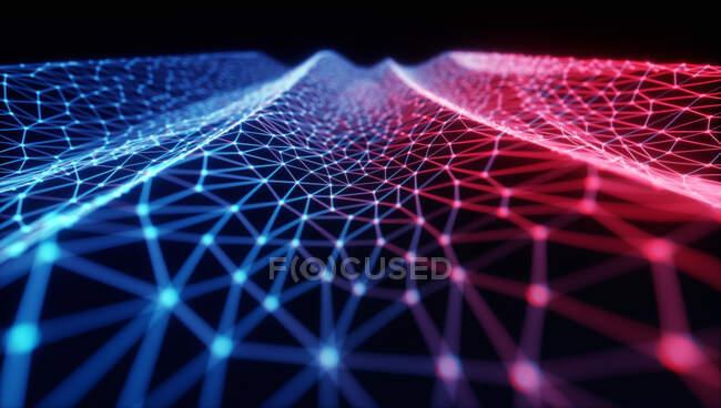 Red, ilustración conceptual por ordenador - foto de stock