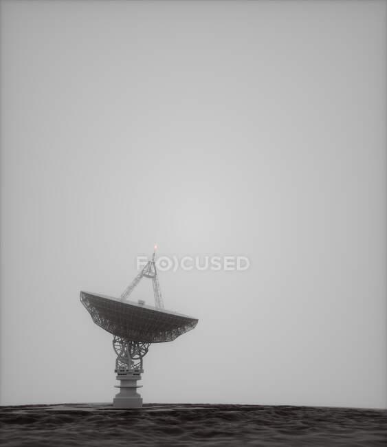 Parabólica sobre fondo gris, ilustración. - foto de stock