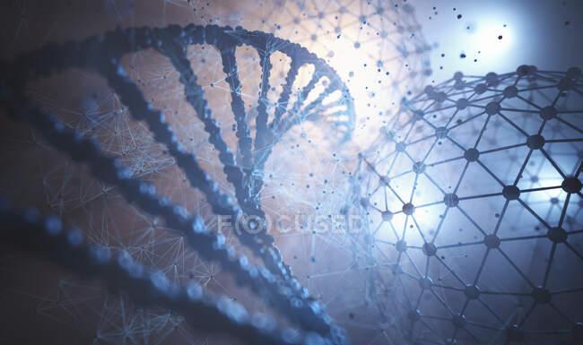 Ingeniería genética, ilustración conceptual. - foto de stock