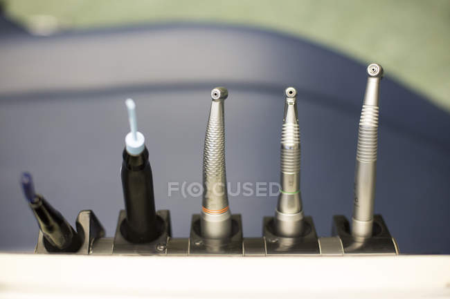 Dental drills for patient treatment — Stock Photo