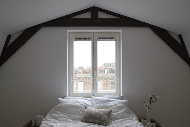 Bedroom under roof — Stock Photo