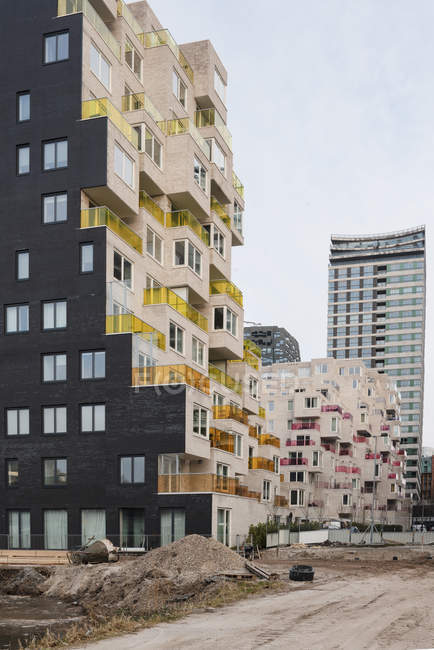 AMSTERDAM, NETHERLANDS - FEBRUARY 9, 2018: Construction site in Zuidas business district — Stock Photo