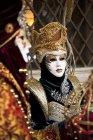 Люди в масках карнавала — стоковое фото