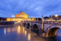 Sant'Angelo Castel with bridge — Stock Photo