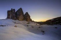 Снежные вершины мутена — стоковое фото