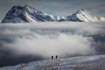 Nuvole tra le cime del Gran Sasso — Foto stock
