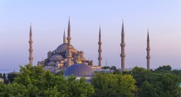 Moschea blu contro sly — Foto stock