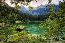 Lago di Tovel e le Dolomiti di Brenta — Foto stock