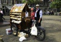Amsterdam, Holland - June 18, 2016: Dutch wooden clogs handmade, Holland — Stock Photo