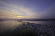 Sunset on Talgliamento river — Stock Photo