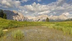 Lake in Pralongia valley — Stock Photo